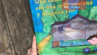 Una casa con una sola ventana y ninguna flor